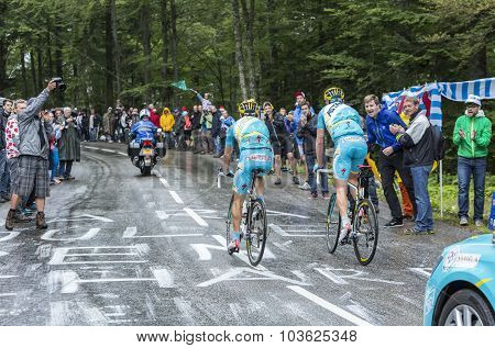 Two Cyclists - Tour De France 2014