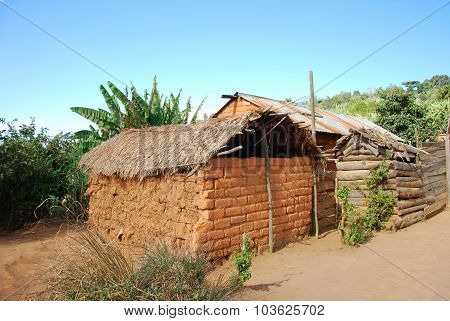 The Houses Of The Village Of Nguruwe In Tanzania, Africa 95