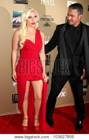 LOS ANGELES - OCT 3:  Lady Gaga, Taylor Kinney at the