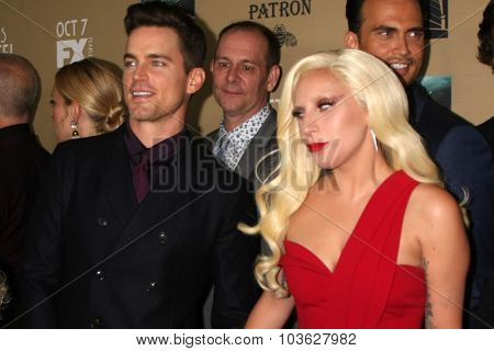 LOS ANGELES - OCT 3:  Matt Bomer, Lady Gaga at the