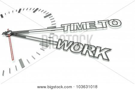 Clock With Words Time For Business, Concept Of Development