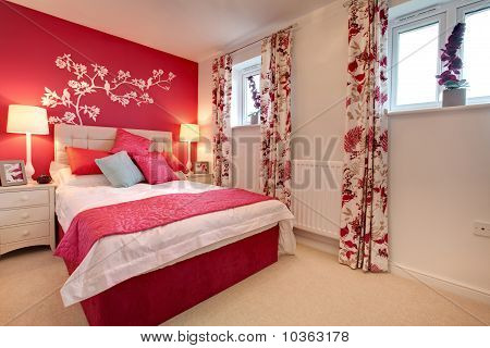 Modern Brightly Decorated Bedroom