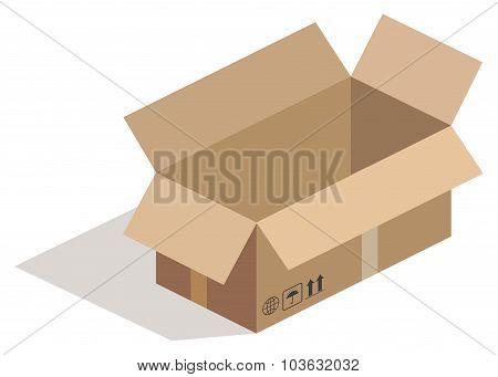 Open box on white