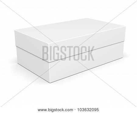 Paper Shoe Box On White