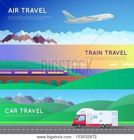 Travel panorama set
