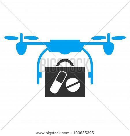 Medical Drone Shipment Icon