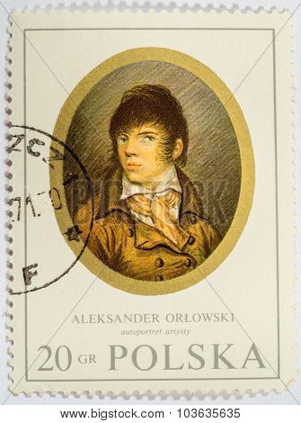 Poland - Circa 1970: A Stamp Printed In Poland Shows One Of The Thumbnails In The Collections Of The