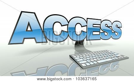 Access Concept With Computer And Network