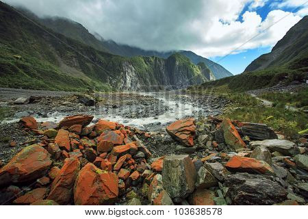 Land Scape Of Fox Glacier In South Island New Zealand Important Traveling Destination