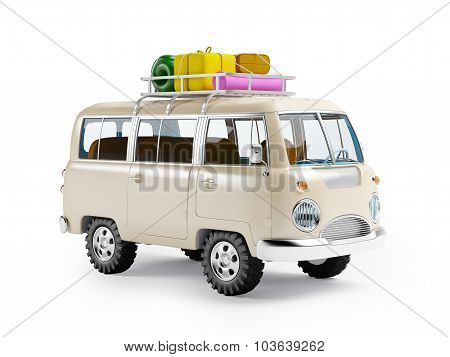 safari van with roofrack