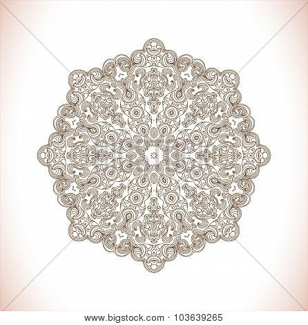 Vector ethnic oriental circle ornament.