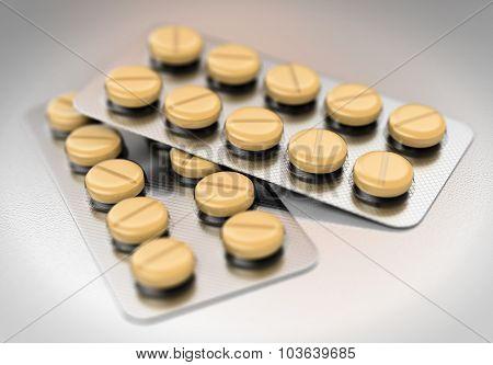 3D Blister Yellow Pills
