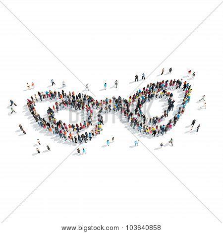 people shapem  glasses cartoon