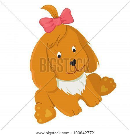 Friendly Happy Vector Dog