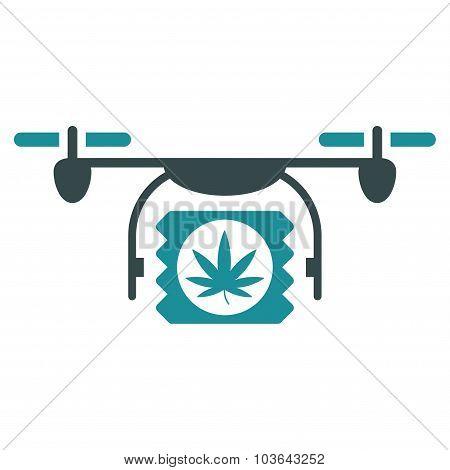 Drugs Drone Shipment Icon