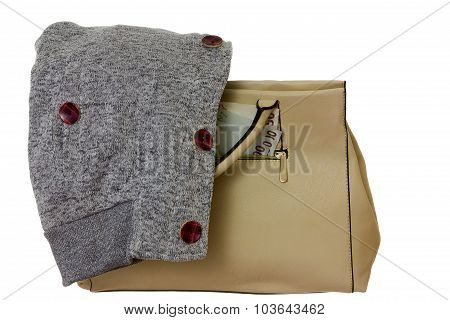 Handbag, Money And  Sweatshirt