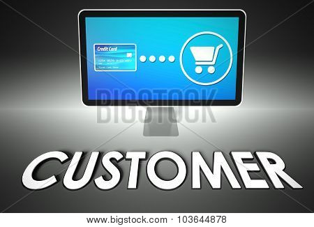 Screen And Buying With Word Customer, E-commerce