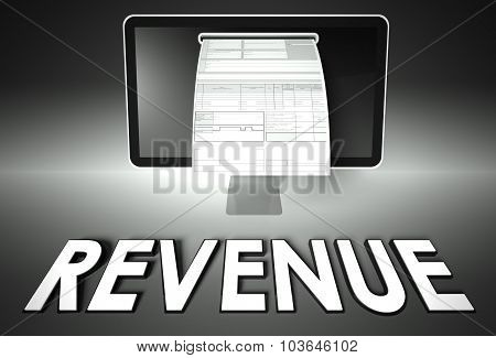Screen And Invoice With Revenue, Tax