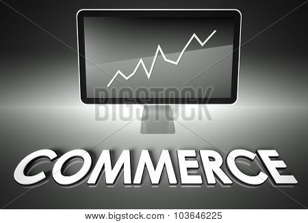 Screen And Graph With Commerce, Success