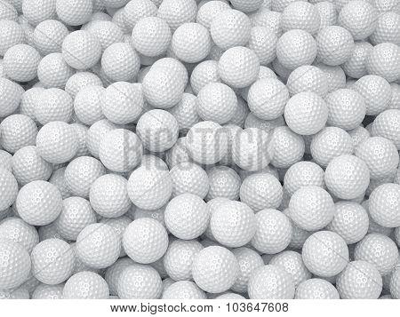 Golf Ball Background. Sport Concept