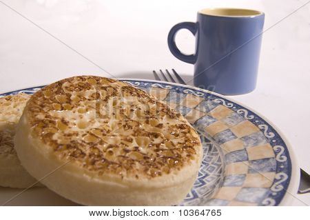 Crumpets and cup