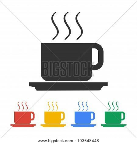 Coffe Vector Illustration. Flat Design Style