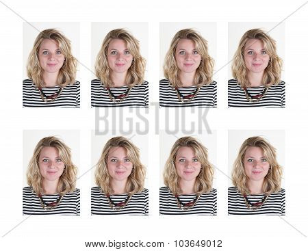 Identification Photo Of A Woman - Blond Young And Pretty