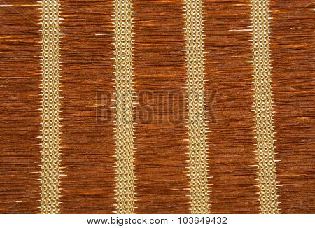 Brown Strow Mat Texture With Vertical Patterns.