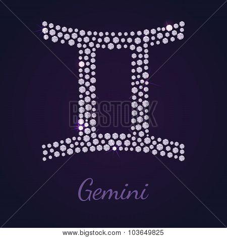Diamond zodiac Gemini