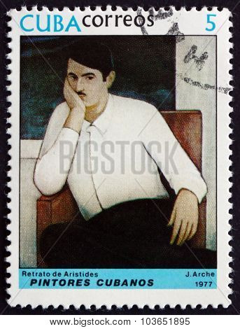 Postage Stamp Cuba 1977 Portrait Of Aristides, By Jorge Arche