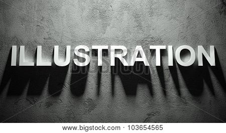 Illustration Text With Shadow, Word