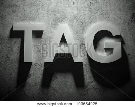 Tag Text With Shadow, Word