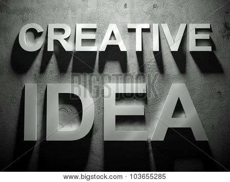 Creative Idea Text With Shadow, Word