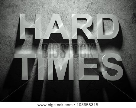 Hard Times Text With Shadow, Word
