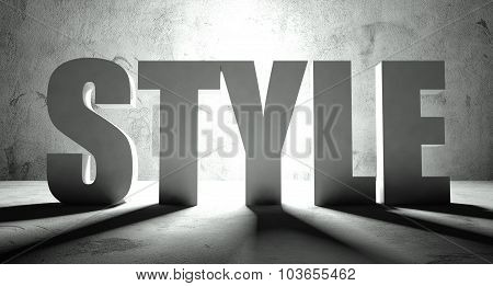 Style Word With Shadow, Background