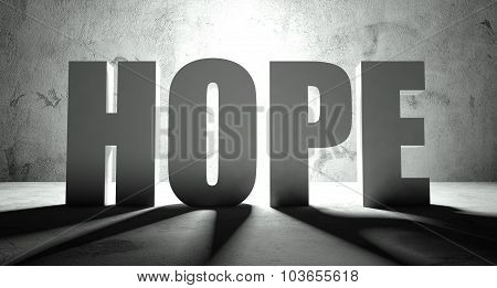 Hope Word With Shadow, Background