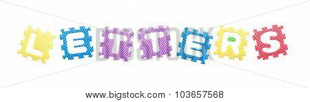 Colored Puzzles, Letters For Children