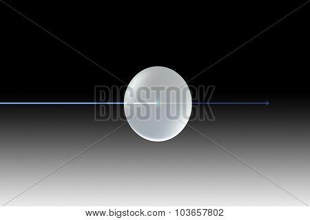 Glass Lens Blue Light Uv Black With Arrow