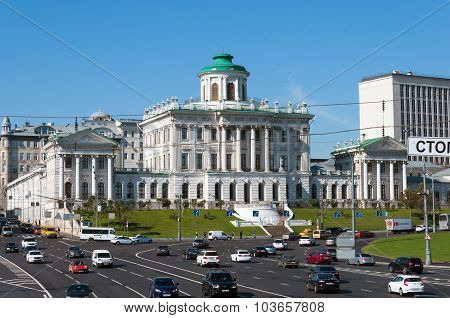 Moscow, Russia - 09.21.2015.The  The old mansion of the 18th century - the Pashkov House. Currently,