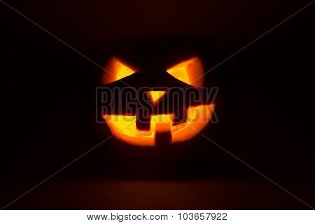 Halloween Pumpkin Jack  Lantern On Dark