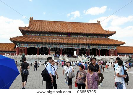 Beijing - June 11: Tourists To See The Sights Of The Forbidden City On June 11, 2012 In Beijing, Chi