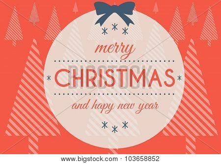 Merry Christmas Happy New Year, Creative Illustration