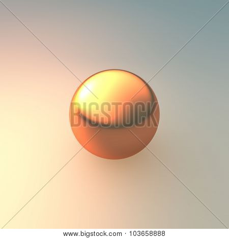 Metal Gold And Bronzer Ball