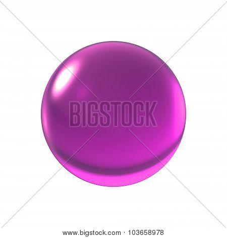 Crystal Magenta Ball