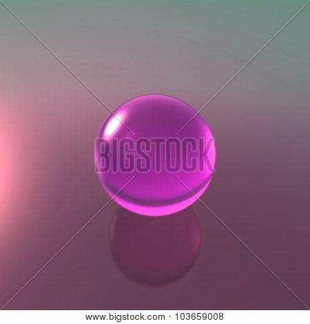 Glass Magenta Ball