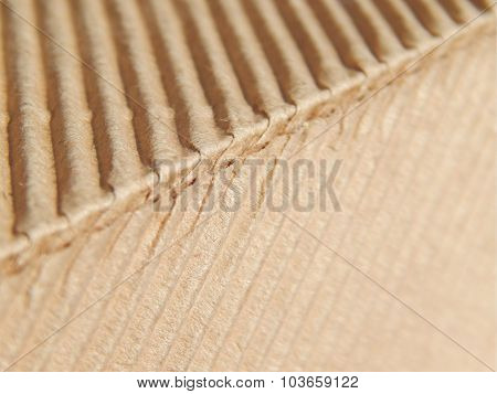 Two faces of the corrugated carton box