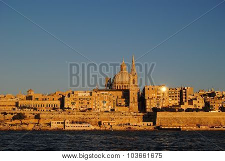 Views of Valetta, Maltese capital.