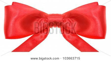 Symmetrical Red Bow With Horizontal Cut Ends
