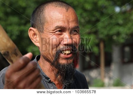 Beijing - June 18: Chinese Man In Yangshuo, Guangxi Region, Traditional Type Of Man Face In China, J