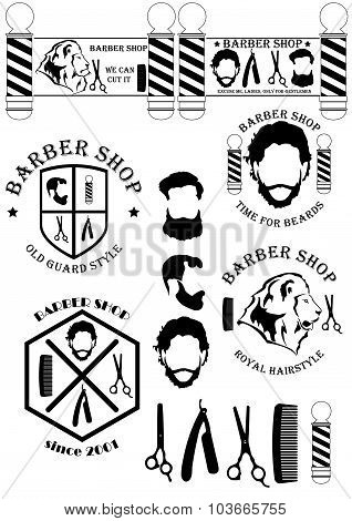 Barber Shop Signs And Tools